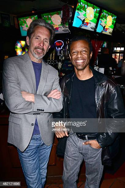 Gary Cole and Phil LaMarr attend the Launch Party for the 'Family Guy' Game at the Happy Ending Bar Restaurant on April 2 2014 in Hollywood California