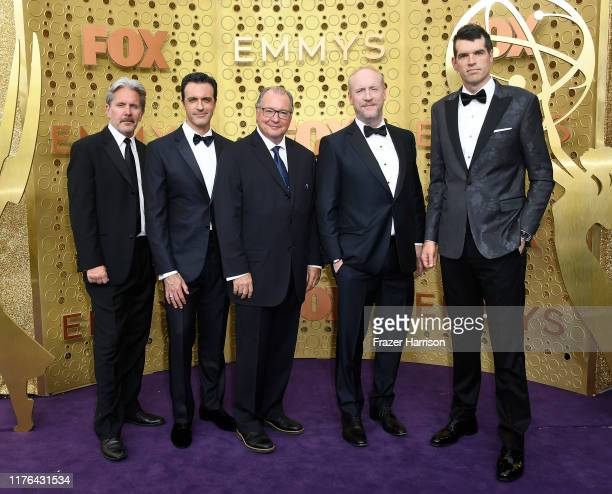 Gary Cole, Reid Scott, Kevin Dunn, Matt Walsh, and Timothy Simons attend the 71st Emmy Awards at Microsoft Theater on September 22, 2019 in Los...