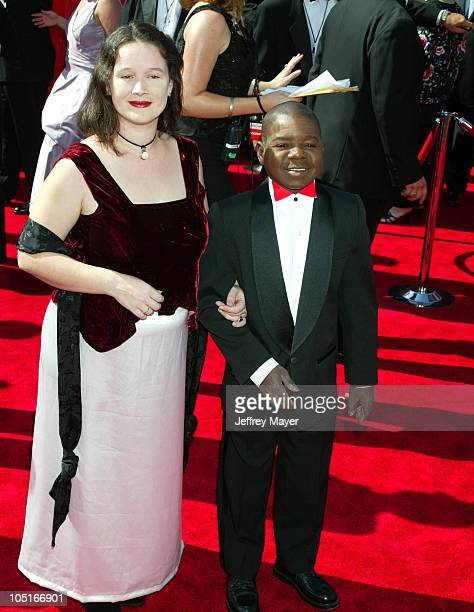 Gary Coleman and Guest during The 55th Annual Primetime Emmy Awards Arrivals at The Shrine Theater in Los Angeles California United States