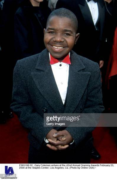Gary Coleman arrives at the 42nd Annual Grammy Awards February 23 2000 at the Staples Center Los Angeles Ca