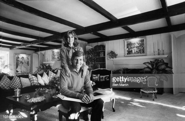 Gary Collins actor and wife Mary Ann Mobley former Miss America in their living room December 9th 1980
