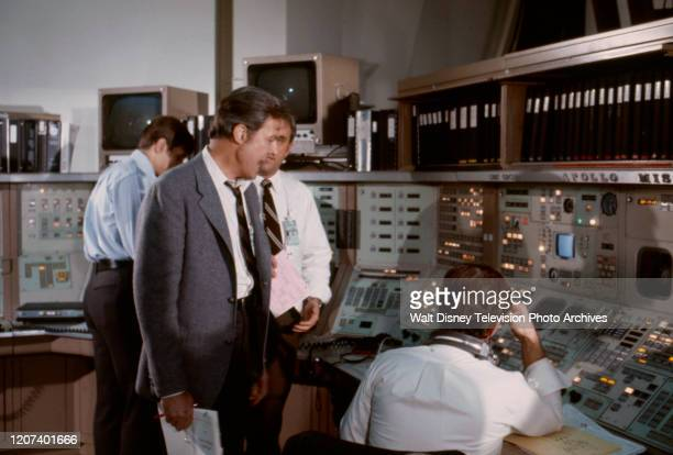 Gary Collins Robert Culp Ed Nelson appearing in the ABC tv movie 'Houston We've Got a Problem'