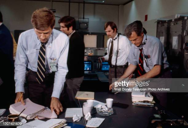 Gary Collins Robert Culp extras appearing in the ABC tv movie 'Houston We've Got a Problem'