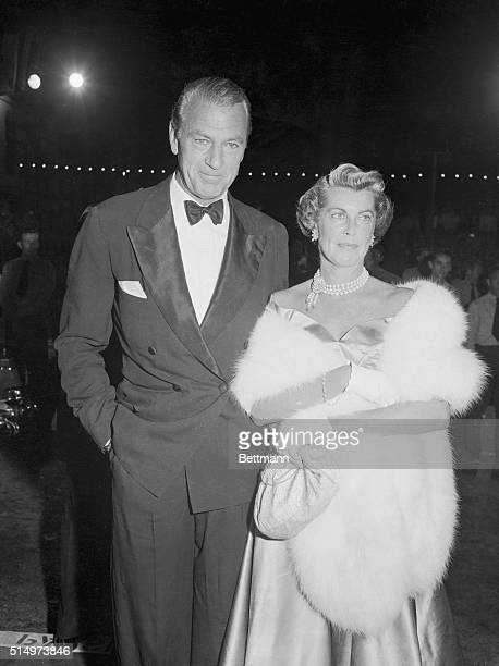 Gary Cooper and his reconciled wife, Rocky, were one of the many personalities to attend the world premiere of A Star is Born at the Hollywood...