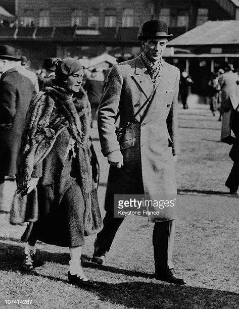 Gary Cooper And His Wife In The Thirties