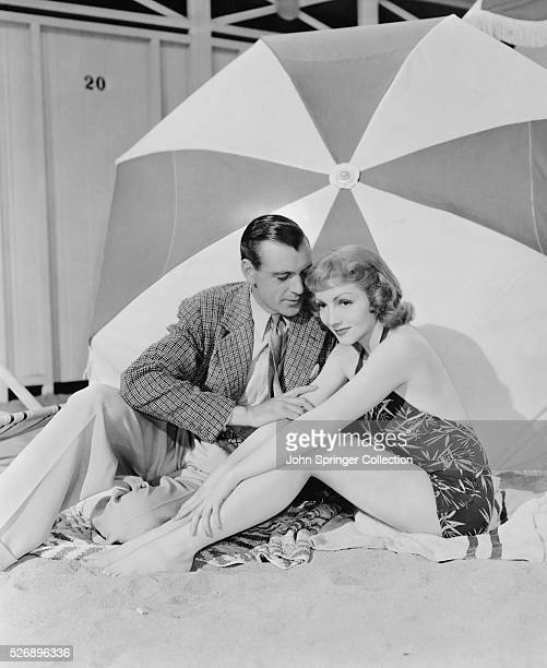 Gary Cooper as Michael Brandon and Claudette Colbert as Nicole de Loiselle in the 1938 version of the film Bluebeard's Eighth Wife