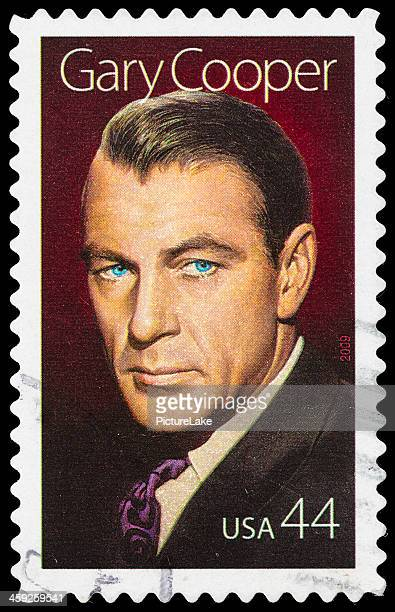 usa gary cooper postage stamp - gary cooper actor stock pictures, royalty-free photos & images