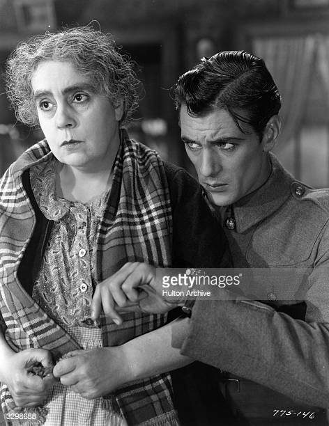 Gary Cooper stars with Beryl Mercer in the film 'Medals' in which a London charlady adopts a soldier The film was directed by Richard Wallace for...