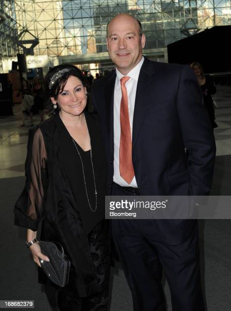 Gary D Cohn president and chief operating officer of Goldman Sachs Group Inc right and wife Lisa Pevaroff Cohn attend the Robin Hood Foundation Gala...