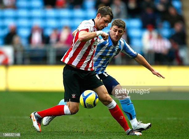 Gary Deegan of Coventry City and Morgan Schneiderlin of Southampton in action during the FA Cup 3rd round match between Coventry City and Southampton...