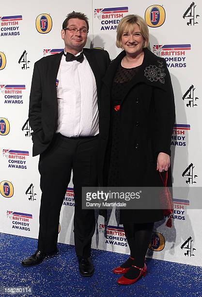 Gary Delaney and Sarah Millican attend the British Comedy Awards at Fountain Studios on December 12 2012 in London England