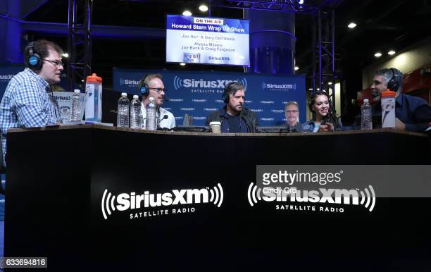 Gary Dell'Abate right and John Hein left host The Howard Stern Wrap Up Show on Howard Stern's exclusive SiriusXM channel Howard 100 live from the...