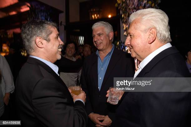Gary Dell'Abate Rob Light and CEO of Sony/ATV Martin Bandier attend Citi Presents 2017 Billboard Power 100 Celebration at Cecconi's Restaurant on...