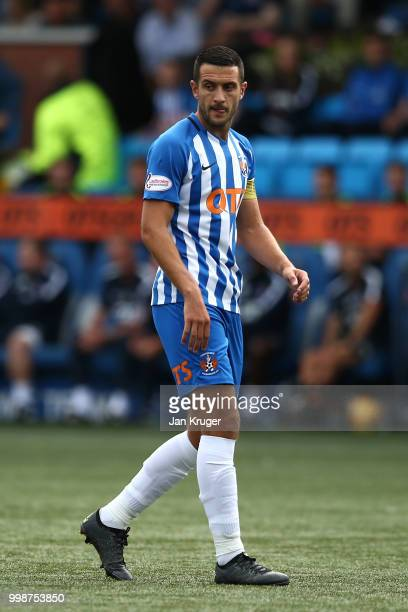 Gary Dicker of Kilmarnock FC during the Betfred Scottish League Cup match between Kilmarnock and St Mirren at Rugby Park on July 13 2018 in...