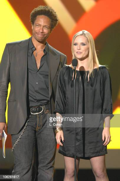 Gary Dourdan and Emily Procter presenters during VH1 Big in '06 Show at Sony Studios in Culver City California United States