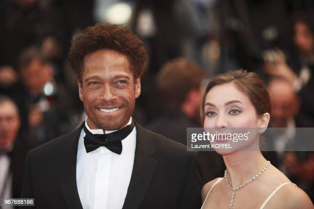 Gary Dourdan and Isabella Orsini attend 'Jimmy P ' Premiere during the 66th Annual Cannes Film Festival at Grand Theatre Lumiere on May 18 2013 in...