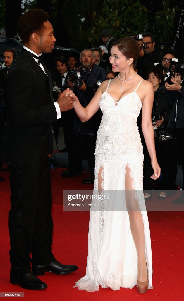 Gary Dourdan and Isabella Orsini attend the 'Jimmy P. (Psychotherapy Of A Plains Indian)' Premiere during the 66th Annual Cannes Film Festival at the Palais des Festivals on May 18, 2013 in Cannes, France.