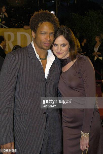 Gary Dourdan and Jorja Fox during The 30th Annual People's Choice Awards Arrivals at Pasadena Civic Auditorium in Pasadena California United States