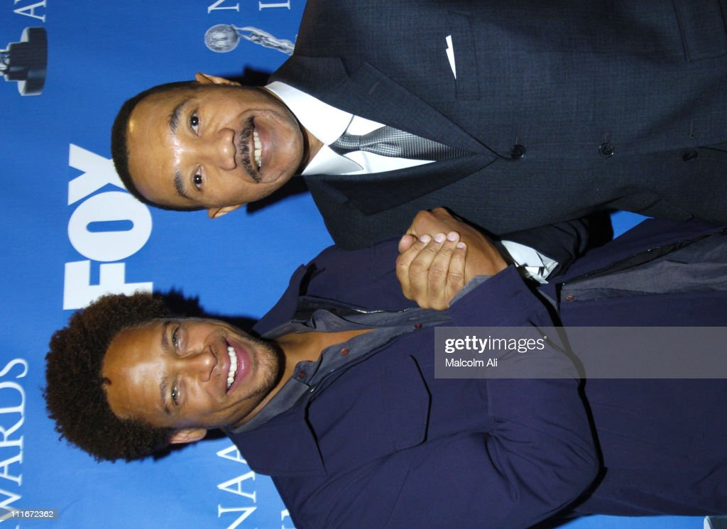 Gary Dourdan and Kweisi Mfume during 35th NAACP Image Awards Nominations at The Four Seasons in Los Angeles, California, United States.