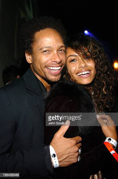 Gary Dourdan and Shakara during 2nd Annual Lingerie Art Auction and Fashion Show Hosted by Fredericks of Hollywood Show at Hollywood Roosevelt Hotel...