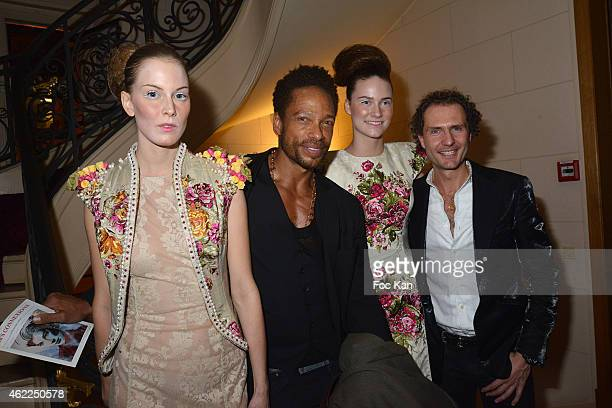 Gary Dourdan PR Nicolas Mereau and models attend the Legends of Monaco show as part of Paris Fashion Week Haute Couture Spring/Summer 2015 on January...