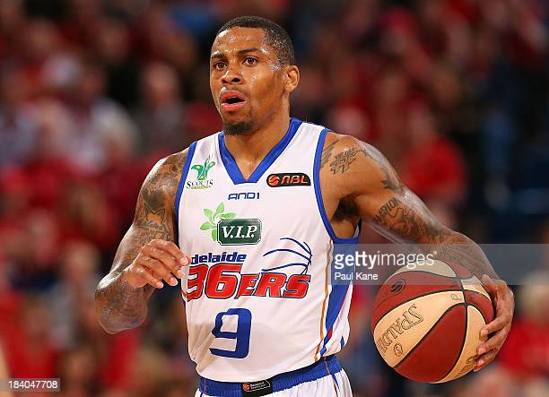 Gary Ervin of the 36ers brings the ball down the court during the round one NBL match between the Perth Wildcats and the Adelaide 36ers at Perth...