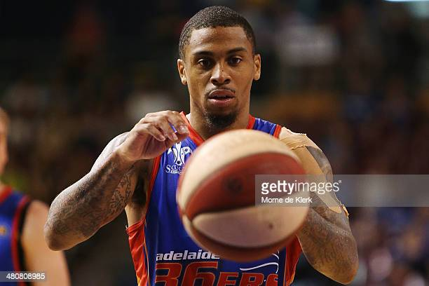 Gary Ervin of the 36ers shoots a free throw during game one of the NBL Semi Final series between the Adelaide 36ers and the Melbourne Tigers at...