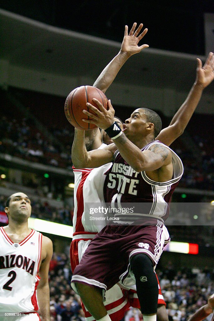 Gary Ervin #11 of the Mississippi State Bulldogs shoots against the Arizona Wildcats on December 5, 2004 at The Arrowhead Pond in Anaheim, California. Arizona defeated Mississippi State 68-64.
