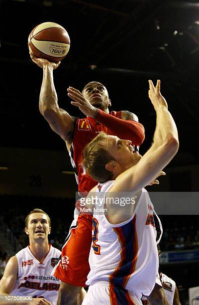 Gary Erwin of the Hawks drives to the basket during the round nine NBL match between the Wollongon Hawks and the Adelaide 36ers at Wollongong...