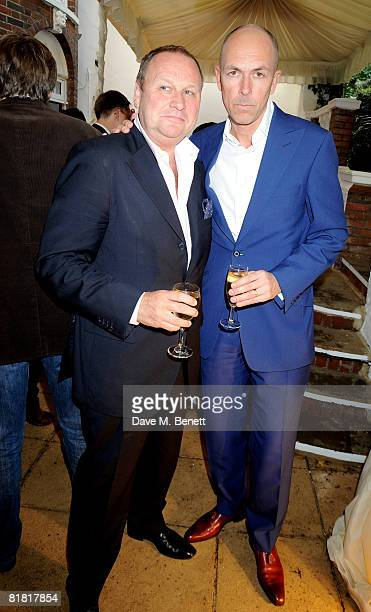 Gary Farrow and Dylan Jones attend The Spectator Summer Party at The Spectator's office on July 3 2008 in London England