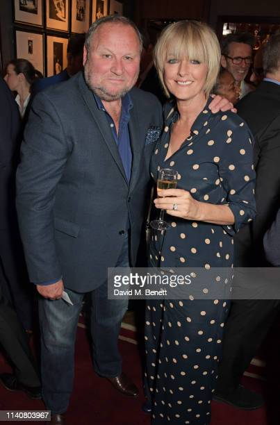 Gary Farrow and Jane Moore attend a private dinner to celebrate Dylan Jones' 20th anniversary as EditorInChief of British GQ at The Beaumont Hotel on...