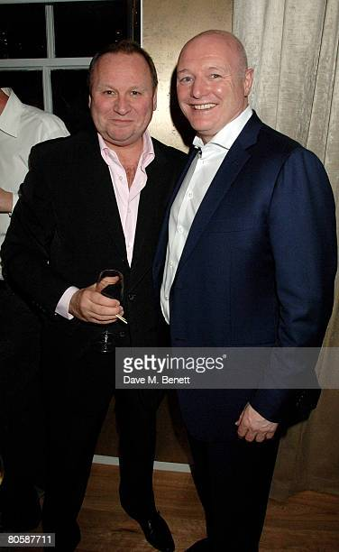 Gary Farrow and Peter Kenyon attend the restaurant launch of Gordon Ramsay's restaurant Maze Grill on April 9 2008 in London England
