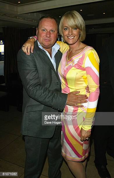 Gary Farrow and wife Jane Moore attend Jane Moore's book launch party at the Embassy Club on July 14 2004 in London Moore is a Sun and Hello...