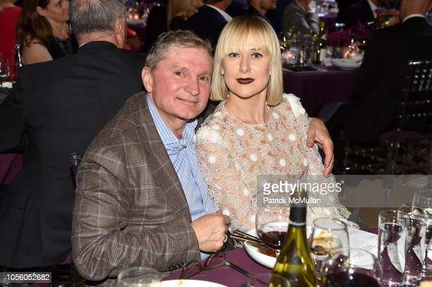 Gary Flom and Svitlana Flom attend The 12th Annual Golden Heart Awards at Spring Studios on October 16 2018 in New York City