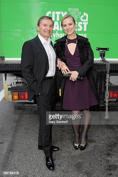 Gary Flom and Svitlana Flom attend the Manhattan Lincoln Drives Guests To City Harvest Gala on April 16 2013 in New York City