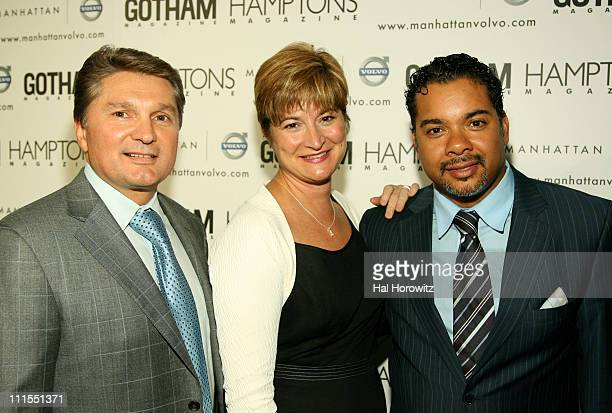 Gary Flom Anne Belec Marcia Gay Harden and guest at the Hamptons Gotham Magazine launch party for the new Manhattan Volvo September 27 2007 at...