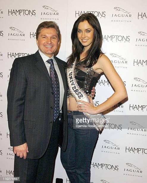 Gary Flom President and CEO of Manhattan Automobile Company and Natalie Glebova Miss Universe 2005