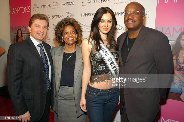 Gary Flom President and CEO of Manhattan Automobile Company Lisa Harris Miss Universe Natalie Glebova and Oliver Mitchell