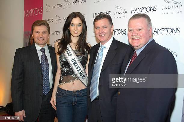 Gary Flom President and CEO of Manhattan Automobile Company Miss Universe Natalie Glebova Michael O'Driscoll President of Jaguar and James J Padilla...