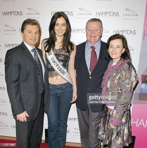 Gary Flom President and CEO of Manhattan Automobile Company Natalie Glebova Miss Universe 2005 James J Padilla President and CEO of Ford Motor...