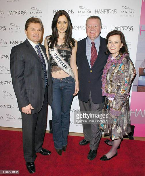 Gary Flom President and CEO of Manhattan Automobile Company Natalie Glebova Miss Universe 2005 James J Padilla President and CEO of Ford Motor...