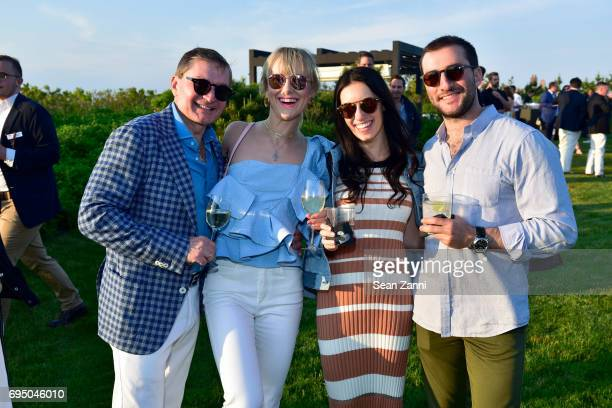 Gary Flom Svitlana Flom Caci Massaro and Elliott Flom attend The 17th Annual Midsummer Night Drinks Benefiting God's Love We Deliver at Private...
