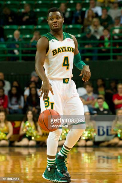 Gary Franklin of the Baylor Bears brings the ball up court against the Northwestern State Demons on December 18 2013 at the Ferrell Center in Waco...