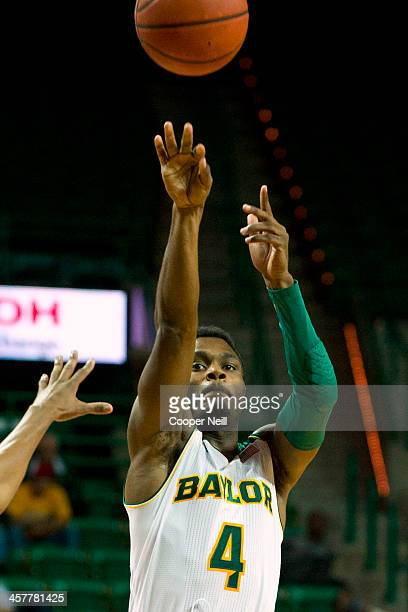 Gary Franklin of the Baylor Bears shoots the ball against the Northwestern State Demons on December 18 2013 at the Ferrell Center in Waco Texas