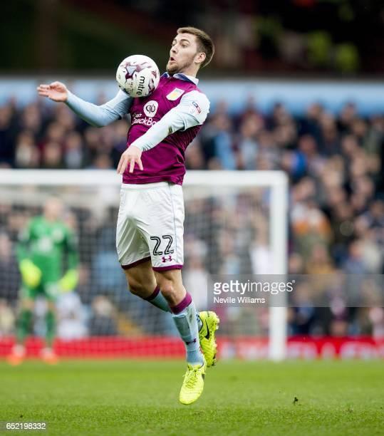 Gary Gardner of Aston Villa during the Sky Bet Championship match between Aston Villa and Sheffield Wednesday at Villa Park on March 11 2017 in...