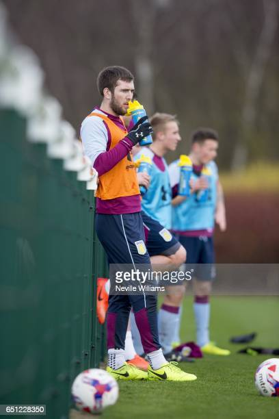 Gary Gardner of Aston Villa in action during a Aston Villa training session at the club's training ground at Bodymoor Heath on March 10 2017 in...