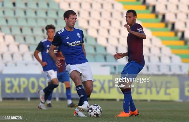 Gary Gardner of Birmingham CFC with Gustavo Souza of CD Cova da Piedade in action during the PreSeason Friendly match between Birmingham CFC and CD...