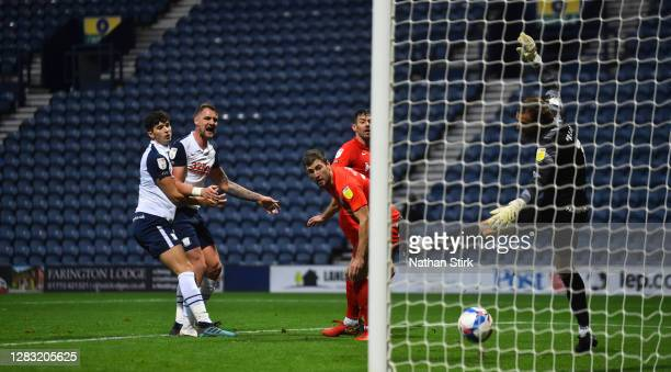 Gary Gardner of Birmingham City scores their second goal during the Sky Bet Championship match between Preston North End and Birmingham City at...