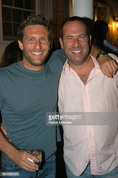 Gary Gilbert and Scott Learner attend Cocktail Party With Steven Schonfeld Celebrating Mindy Greenblatt's Birthday at Watermill on August 19 2006