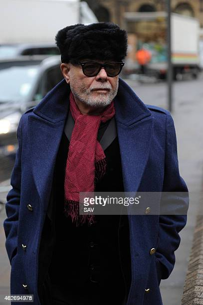 Gary Glitter real name Paul Gadd arrives at Southwark Crown Court for trial on February 3 2015 in London England